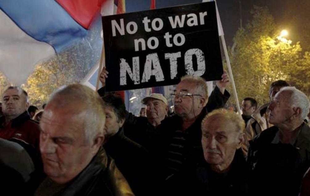 PODGORICA Protesti protiv ulaska Crne Gore u NATO