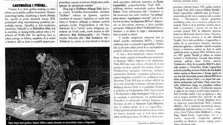 """Faksimil teksta koji je objavila """"Slobodna Bosna"""" 28. februara 2002. godine"""