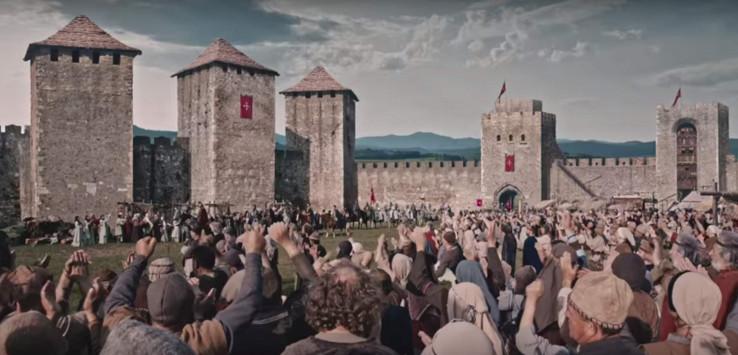 Scena iz trailera za Nemanjiće: Srbi sebi i o sebi snimaju seriju