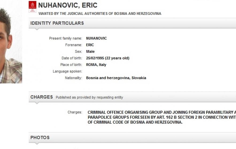 Interpol traga za 22-godišnjim Nuhanovićem