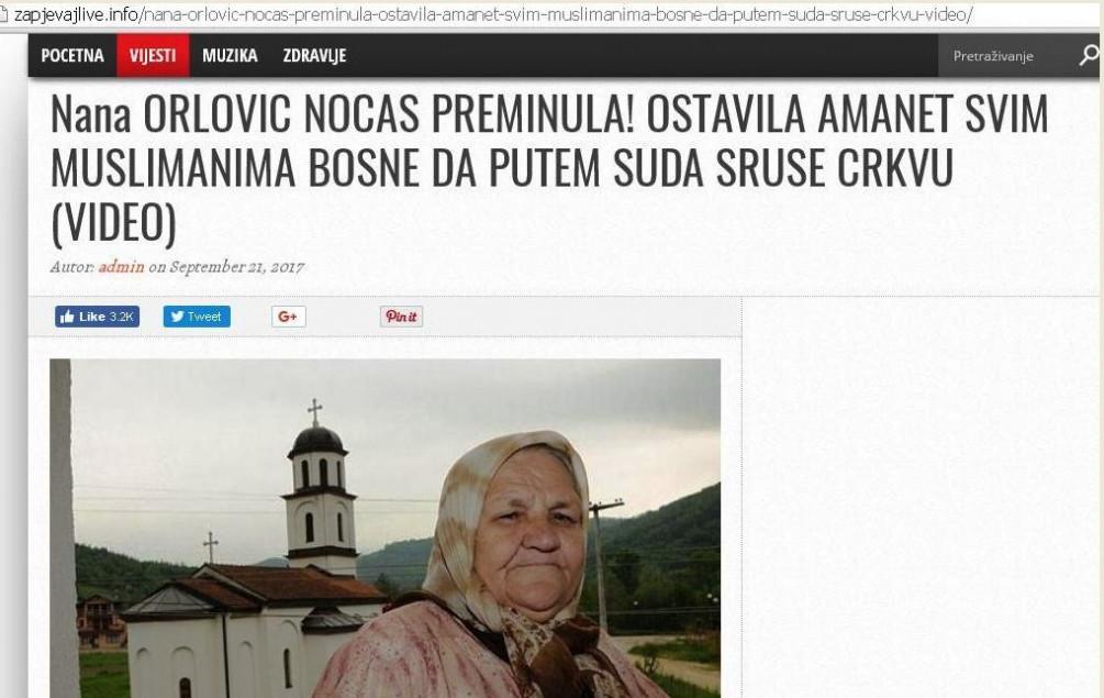 Fata Orlović je živa i zdrava, u Konjević-Polju sabire ljetinu!