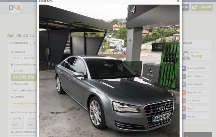 Audi A8 3.0 TDI Quattro prodavao na OLX-u