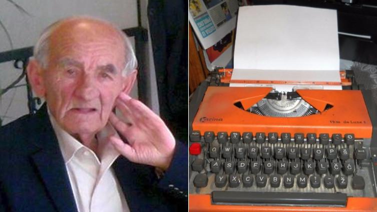 Šahbaz Hasan-majstor za pisaće mašine, preselio na bolji svijet ; Jedna od posljednjih mašina koju je Šahbaz servisirao(Foto A. Kamber/Avaz.ba)