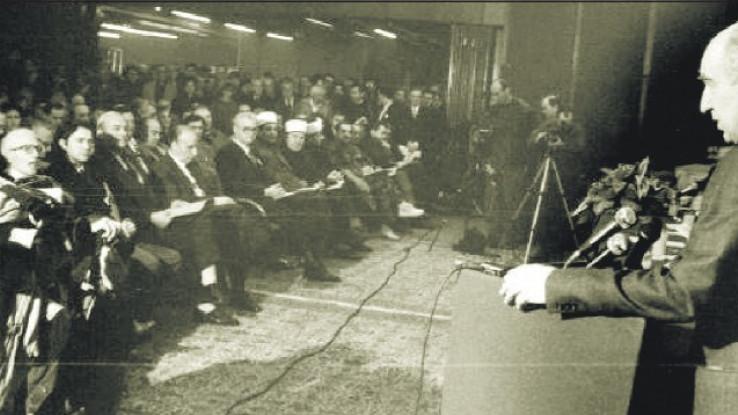 S Bošnjačkog sabora 27. septembra 1993. godine: Prisustvovalo 377 sabornika