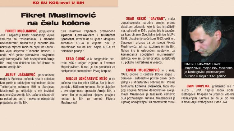 """Faksimil teksta iz """"Slobodne Bosne"""" od 23. juna 2005. godine"""