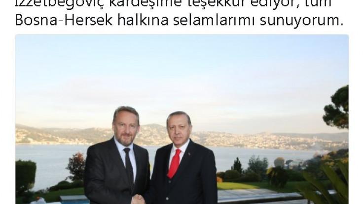 Turski predsjednik na svom zvaničnom Twitter profilu u nedjelju, 15. oktobra, nije objavio fotografiju