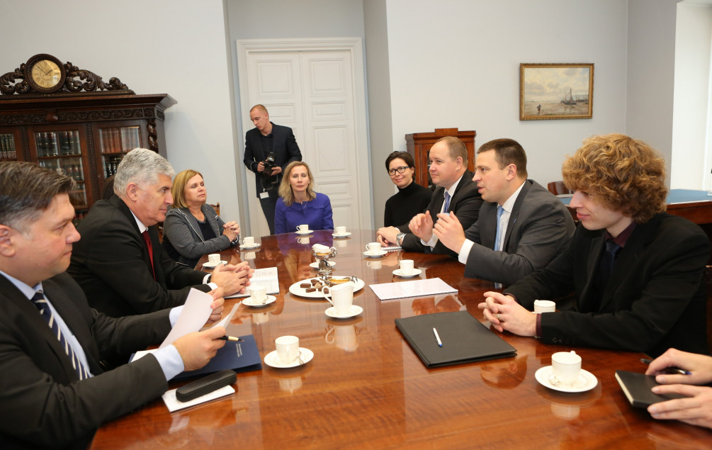 Čović se u Talinu susreo s premijerom Estonije