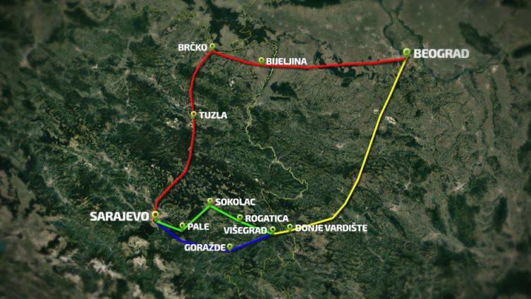 U opciji nekoliko trasa brze ceste: U utorak sastanak u Goraždu