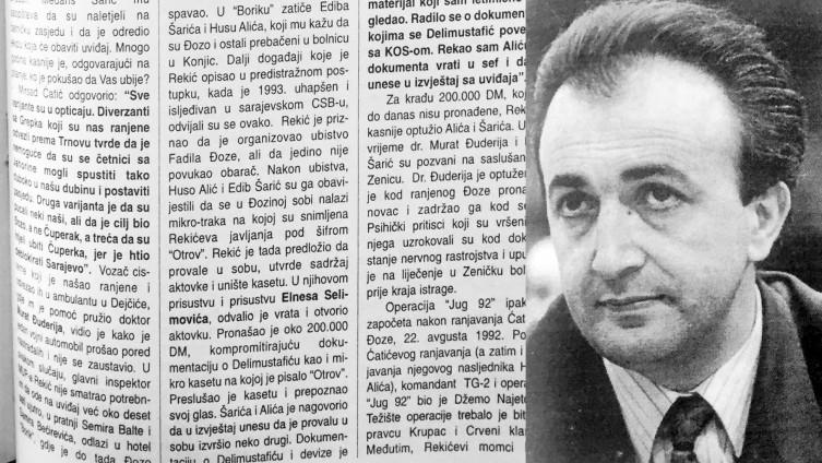 """Faksimil dijela teksta """"Slobodne Bosne"""" od 17. oktobra 1998. godine"""
