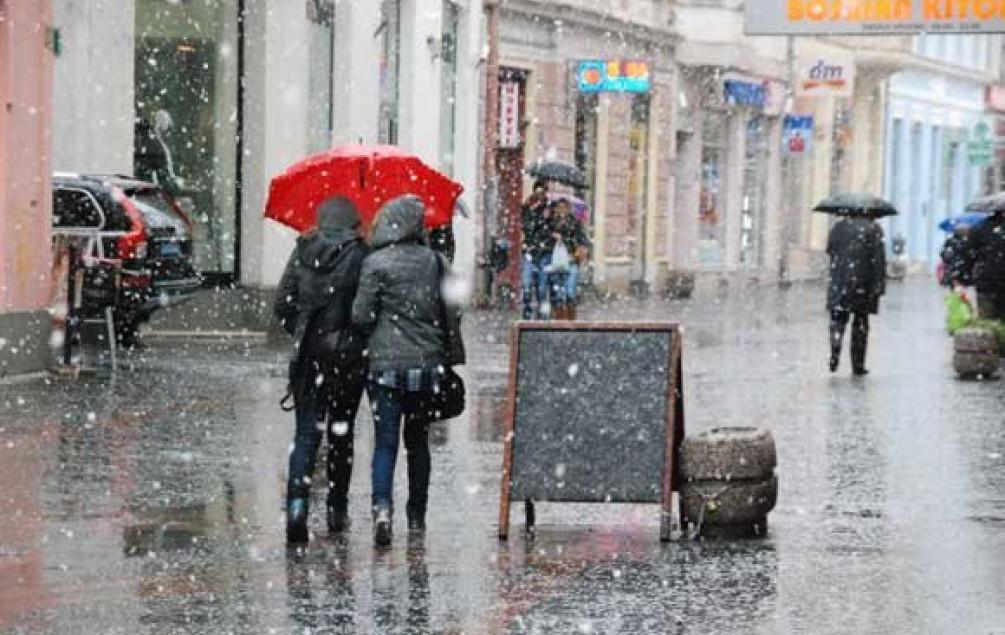 Prijepodne kiša, krajem dana pad temperature i snježne padavine