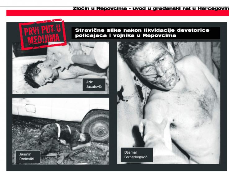 Devet bošnjačkih vojnika i policajaca Armije RBiH ubijeno je u Repovcima 12. jula 1992.
