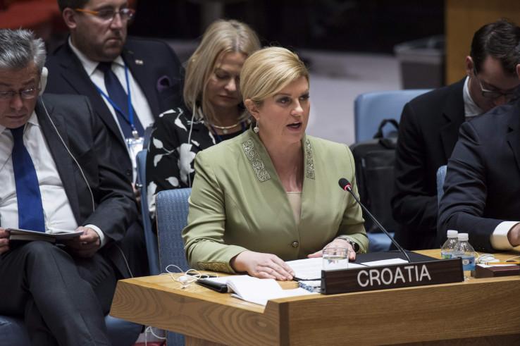 Grabar-Kitarović tokom obraćanja u UN-u