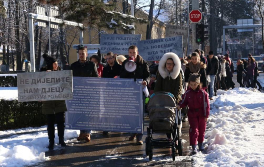 Protesti u Banjoj Luci: Nezaposlene majke traže jednaka prava za sve porodilje