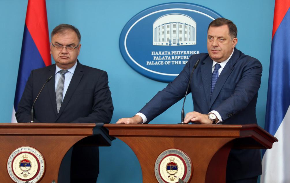 Dodik pisao Ivaniću: Traži podršku za Izrael