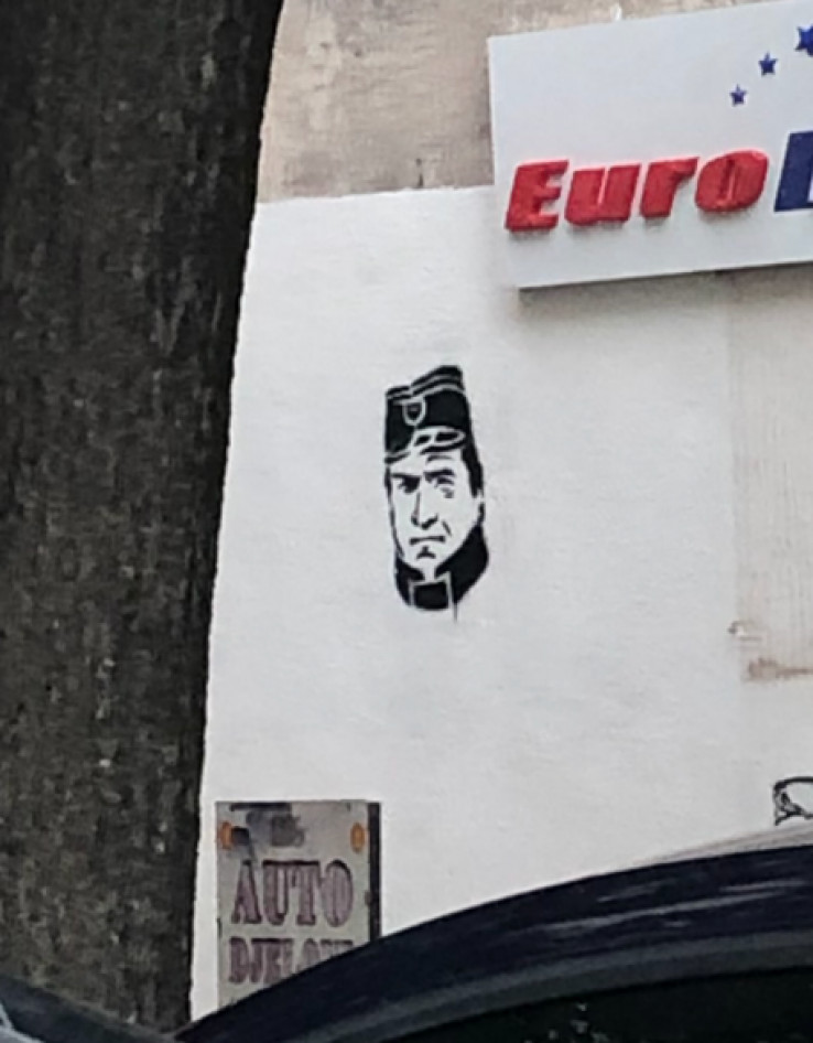 Grafit s likom zločinca