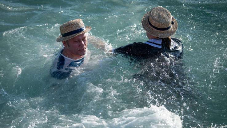 Prvi plivači u Portorožu