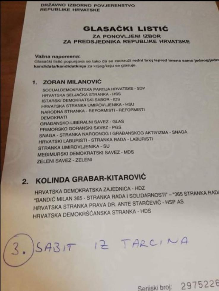 Glas za Sabita iz Tarčina