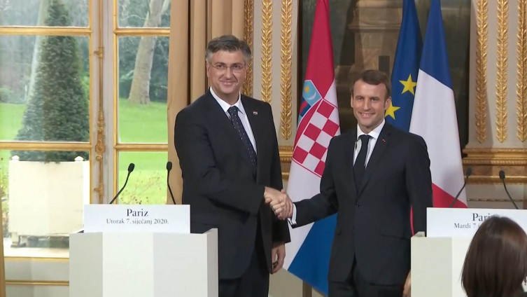 Andrej Plenković i Emanuel Makron