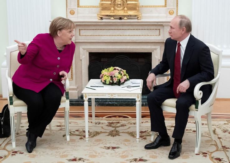 Merkel i Putin razgovarali o Bliskom Istoku