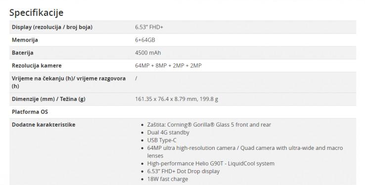Specifikacije Redmi Note 8 Pro