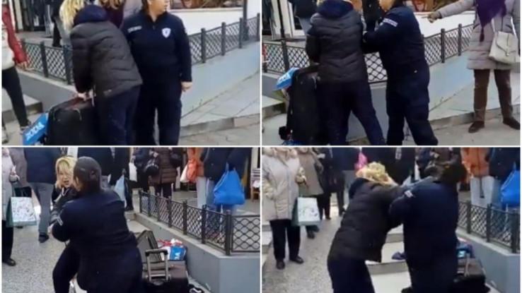 Žena nokautirala policajku na pijaci