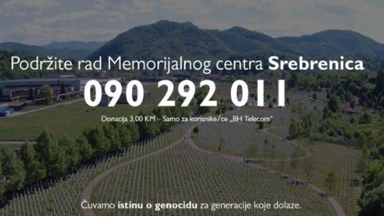 Broj za pomoć Memorijalnom centru Potočari