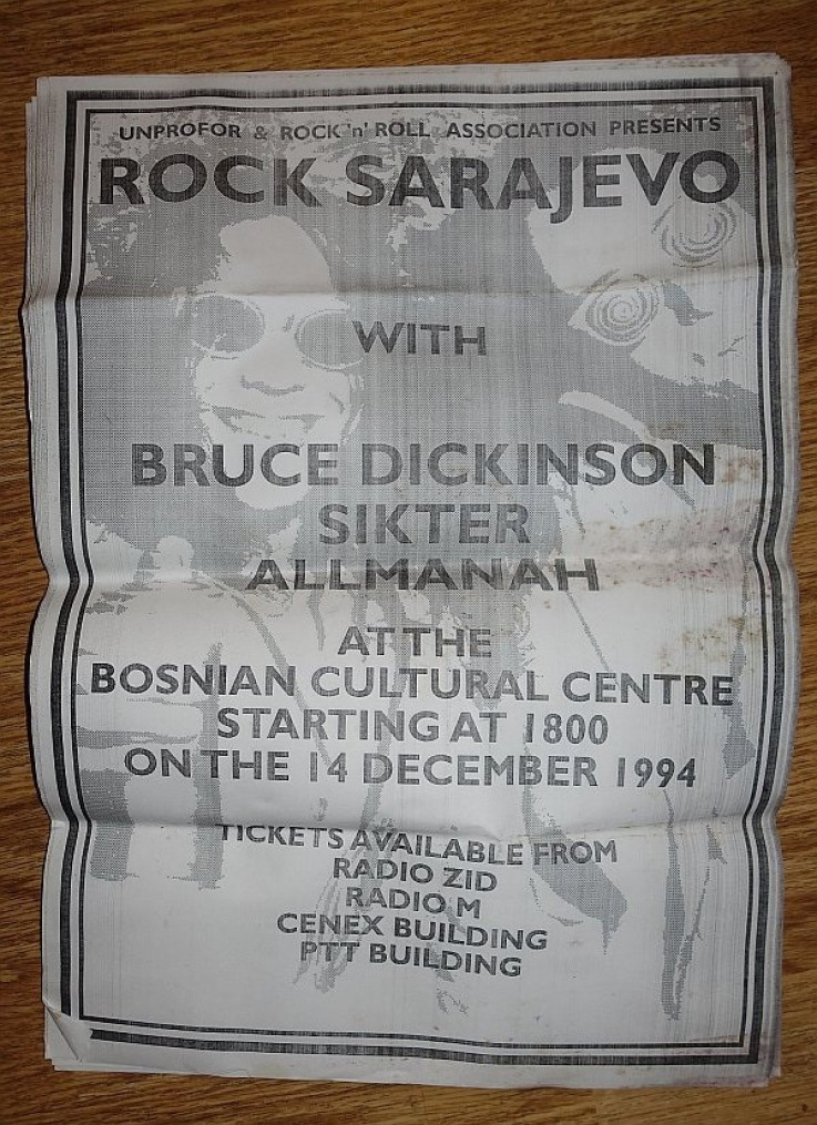 Originalni poster s koncerta 1994.