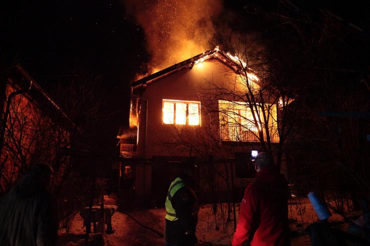 Izgorjela kuća porodice Droca
