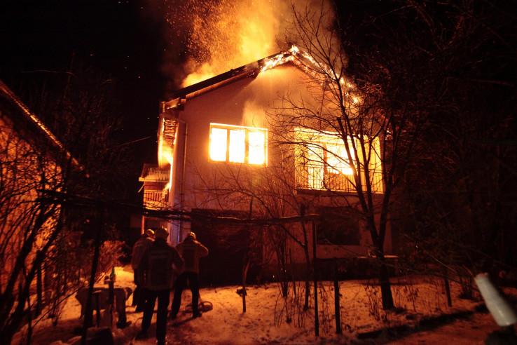 Požar na kući porodice Droca