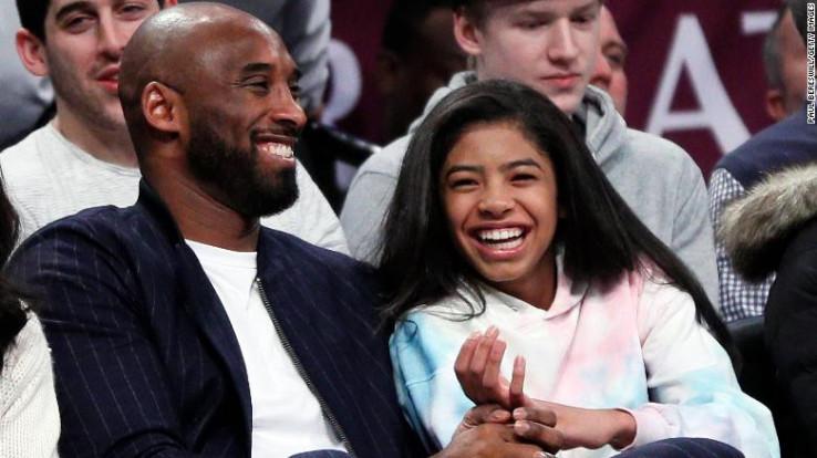 Kobi Brajant s kćerkom Đijanom