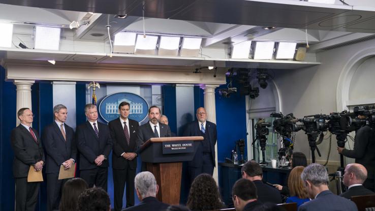 Pres-konferencija u Bijeloj kući