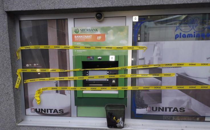 Žuta traka na bankomatu