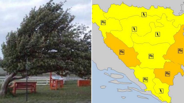 Aktiviran žuti i narandžasti meteoalarm