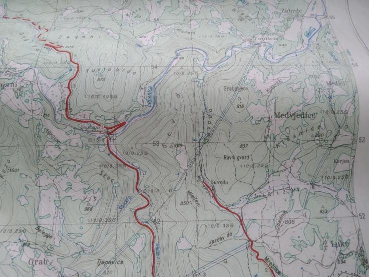 Mapa kretanja ubice Gačića