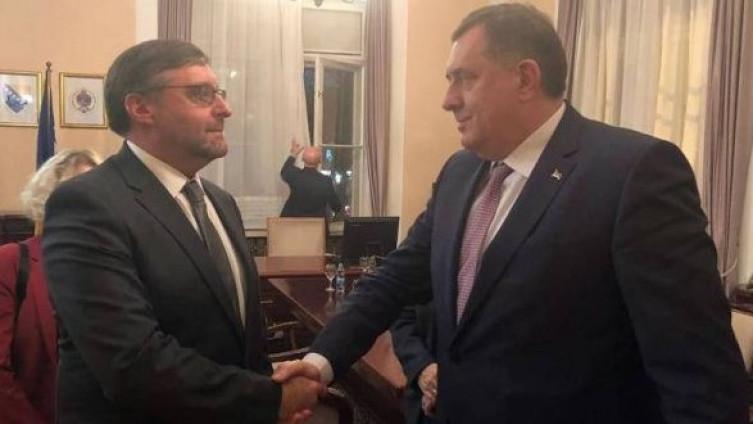 Metju Palmer i Milorad Dodik