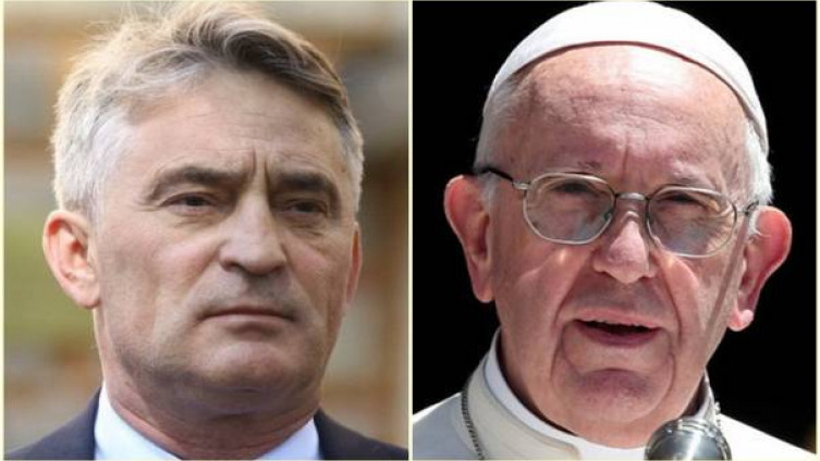 Komšić i papa Franjo