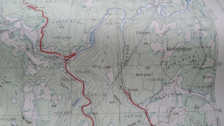 Mapa kretanja Edina Gačića