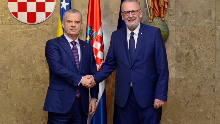 Radončić i Božinović na sastanku u Zagrebu: Poboljšanje odnosa BiH i Hrvatske