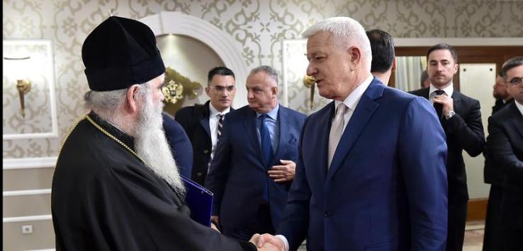 Amfilohije i Marković s predstavnicima Vlade