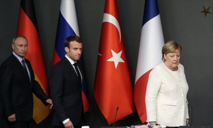 Putin, Makron i Merkel