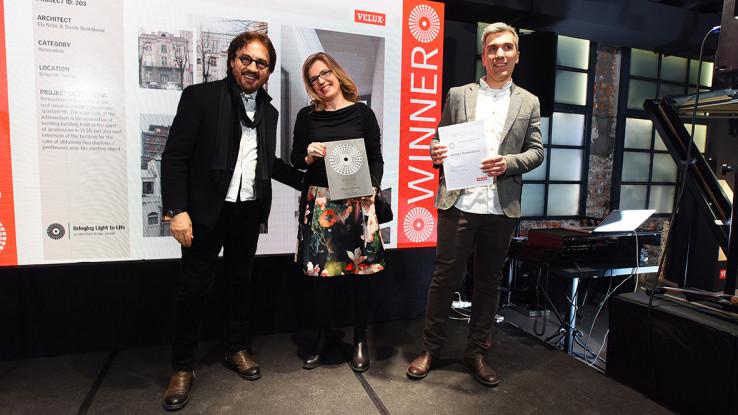 Gundulićev venac – Srbija, arhitekte Ela Nešić i Danilo Nedeljković sa članom žirija Vladimirom Lovrićem
