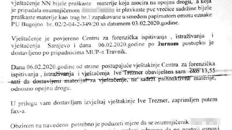 Dokument koji je Tužilaštvo poslalo Sudu