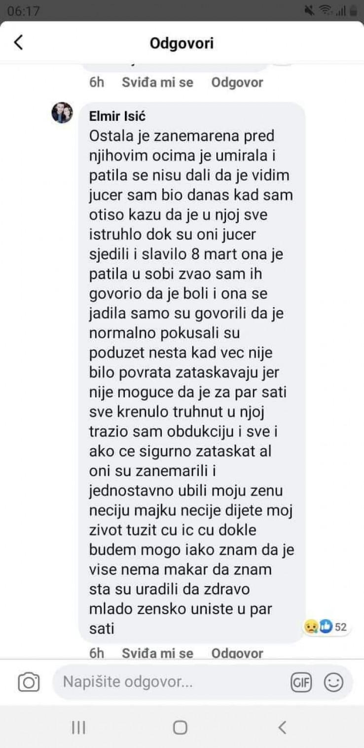 Isić na Facebooku objavio tužnu vijest
