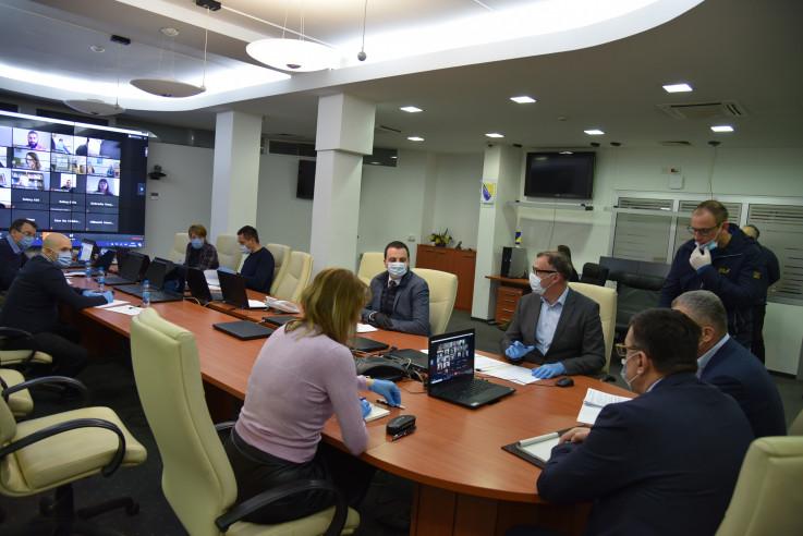 Videokonferencija u Ministarstvu sigurnosti BiH