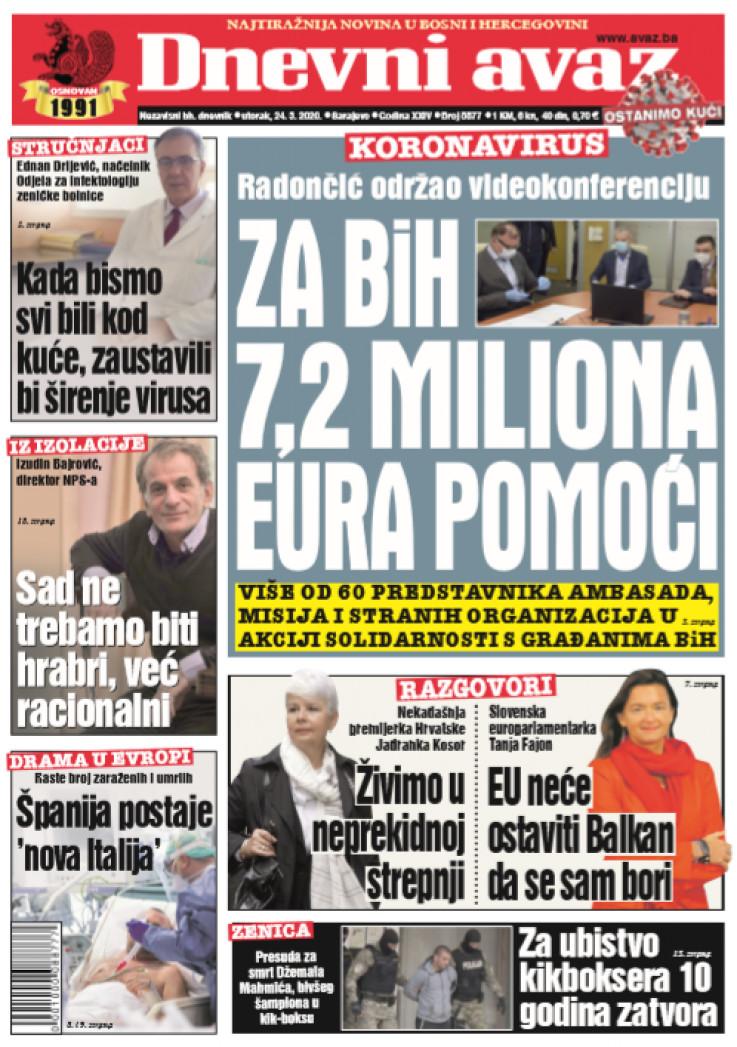 Naslovna strana za 24.03.2020.