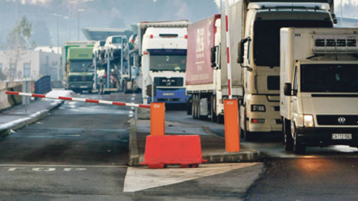 Na GP Bosanska Gradiška duge su kolone teretnih vozila