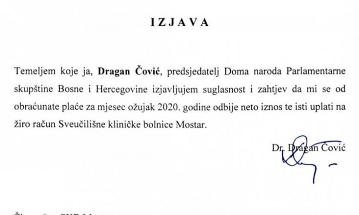 Izjava Dragana Čovića