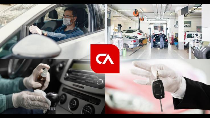 Dezinfekcija i odvoženje auta na tehnički pregled