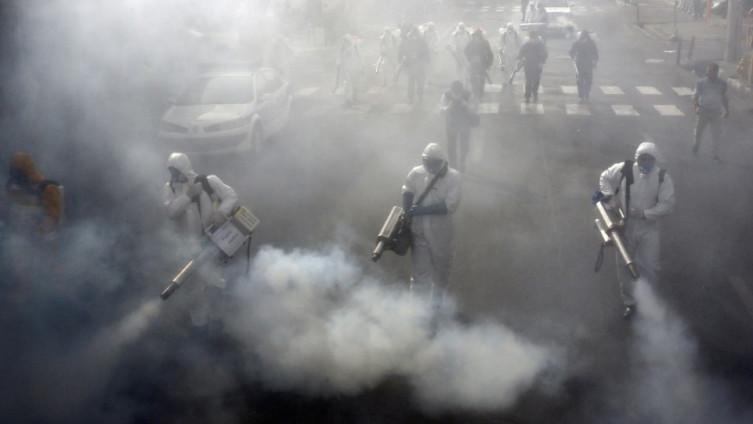 Dezinfekcija ulica u Teheranu