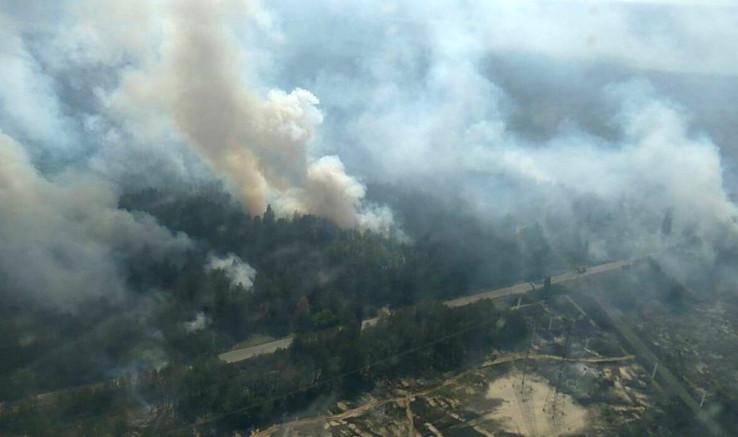 Požar izbio 4. aprila na području od 20 hektara u Černobilu